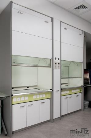 Chemical fume hoods with a thin wall