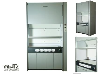 J Fume hood with side control panel