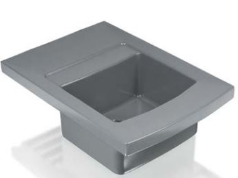 Ceramic integral sink