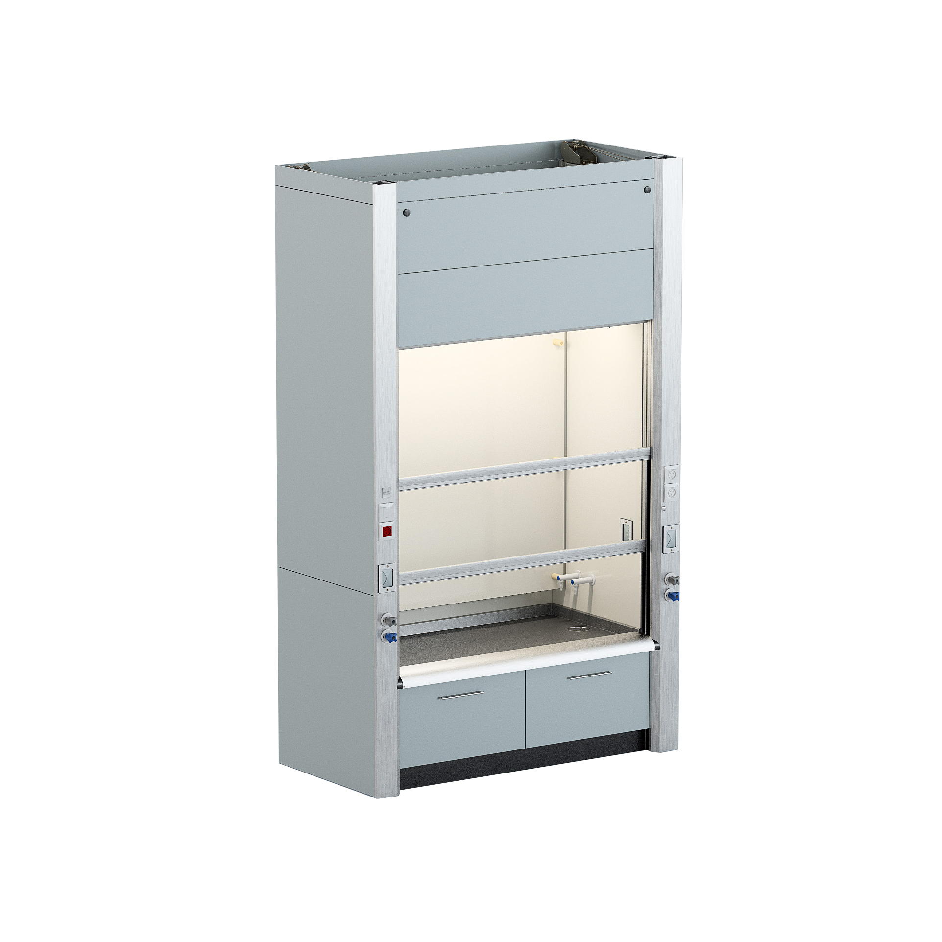 Fume hood with a Low surface