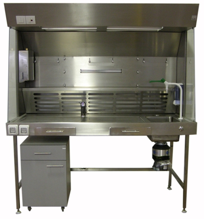 Fume hood workstation for pathology