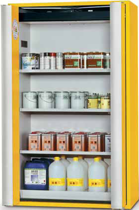 Fire safety cabinet with easy opening
