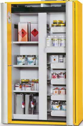 Safety cabinet for storage flexibility